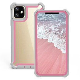 пластиковые корпуса для iphone Скидка Для Samsung S10 5G S10e S9 Plus Note 10 Pro iPhone 2019 XI X XS Макс XR 8 ТПУ Прозрачный акриловый чехол Защитник всего тела Мягкая матовая рамка Shell