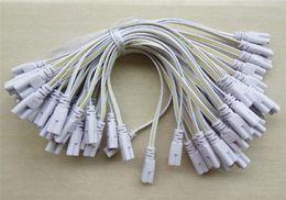 Collegare i cavi online-Connettore LED a 3 pin per tubi 20cm 30cm 50cm 100cm T4 trifase T5 T8 Illuminazione a lampade a LED Cavo di collegamento a due estremità per cavi