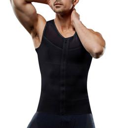 roupas de bodybuilding para homens Desconto Marca Ginásios Vestuário Homens  de Fitness Regatas com Zíper Mens 08075e96a27