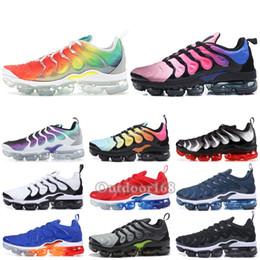 new concept 82673 18491 TN Plus Männer Frauen Laufschuhe Rainbow Grape Schwarz Weiß Wolf Grau Hyper  Blue 2019 Marke Designer Schuhe Sport Sneakers Größe 36-45