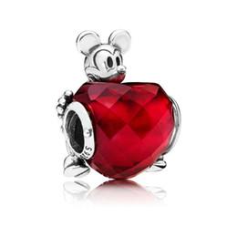 2019 perline ragazza pandora New Authentic 925 Sterling Silver Bead Charm fit Pandora braccialetto del braccialetto del fumetto AnimaLs Love Heart Charm Girl regalo gioielli fai da te perline ragazza pandora economici