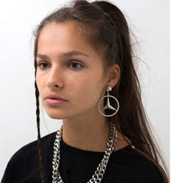 einfache elegante ohrringe Rabatt Mode großer Ring elegante einfache Ohrringe 2 Farbe Zubehör Großhandel D19011502