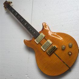 2020 chitarre elettriche gialle Spedizione gratuita Custom Santana II Santana Yellow Reed Smith Guitar Artist Top palissandro tastiera cinese chitarra elettrica sconti chitarre elettriche gialle