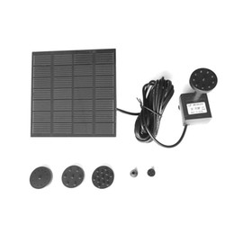 Mini Solar Fountain Pump Brushless Submersible Pump Motor for Garden Patio Pond Pool 1.2W Outdoor Solar Powered Water Pump Panel Kit Black
