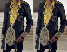 Ropa nigeriana online-Ropa africana Ropa para hombres africanos Roupa africana dashiki Hombres camisas africa para ropa tradicional nigeriana
