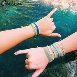 bracelet en gros de soins infirmiers Promotion Main Cire Fil Tissé Bracelets Multicouche Amitié Tressé Bracelet Cire Chaîne Multicolore Bracelets Pour Femmes Summer Beach