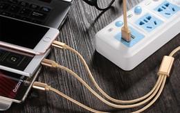 Câble de chargeur USB 3 en 1 Cordon 1M tressé Micro V8 Type C Charge pour i 6 7 8 X Samsung S4 S6 S7 S8 HTC Huawei Smartphone Multi Fonction ? partir de fabricateur