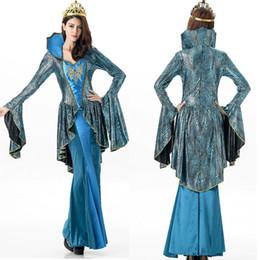Costumi egiziani online-Costumi di Halloween per donna Costume egiziano Sexy nobile regina Cosplay Abito modello serpente vestito operato da halloween Performance sul palco
