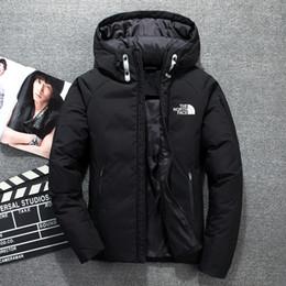 568b791d451 белый пуховик с капюшоном Скидка Зима мужская вниз балахон белая утка вниз  Северная куртка Куртка ветрозащитный