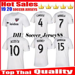 2019 new jersey de washington Nova 2019 2020 MLS DC Unida Camisa de Futebol Camisa de Futebol Branco ROONEY ARRIOLA ACOSTA CANOUSE Uniformes de Qualidade Superior Washington Jerseys desconto new jersey de washington
