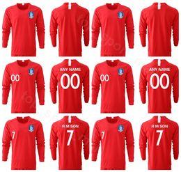 Corea del Sur H M SON Jersey de manga larga 2019 2020 Hombres Fútbol YHGO YLEE HMSON Camiseta de fútbol Kits Uniforme Rojo desde fabricantes