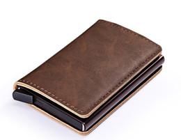 2019 geschäftskontrolle inhaber Beliebte Unisex-Kartenhalter vintaged Leather Shell Automatische Pop-up-Kartenhalter BRID Blocking Function 3pc bis zu verkaufen