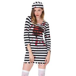 2019 prisonnières 2018 adultes Costumes festival Halloween horreur sanglant costumes cosplay Prisonnier pour les femmes diable Vêtements Carnaval Costume Party promotion prisonnières