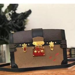 bolsa de ombro rosa forma Desconto 2020 Atacado Designer Box Original petite malle Bolsas Evening Bags Leather Box Moda Clutch tijolo Mensageiro Shoulder Bag 43596