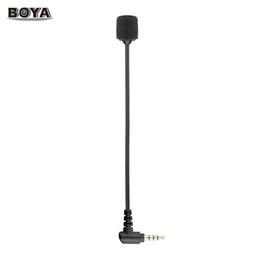 micrófono boya Rebajas BOYA BY-UM4 Micrófono de condensador omnidireccional portátil Micrófono Mini Micrófono flexible con conector TRRS de 3,5 mm para iOS Android