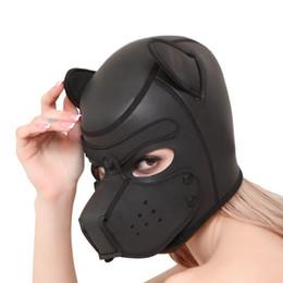 Canada Le sexe sexy de masque de chien de bouche de fermeture à glissière de fétiche de bondage de bondissement joue pour la femme, jeux de contraintes pour adultes, masque en cuir d'unité centrale de cuir de bdsm Offre