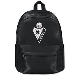 Doppia etichetta online-Sociedad Deportiva Eibar S.A.D. Armagiñak Love small label Spedizione gratuita Women Nylon Double Shoulder Backpack Durable Travel Backpack Printi