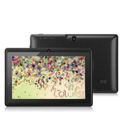BARATO Q88 7 polegada Android 4.4 Allwinner A33 Tela Capacitiva Quad Core 512 MB 8 GB Câmera Dupla Tablet PC Externo com teclado X106 de