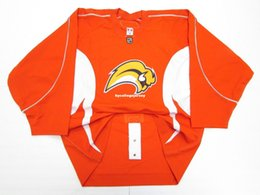 Cheap custom BUFFALO SABRES ORANGE TEAM ISSUED PRACTICE JERSEY stitch add any  number any name Mens Hockey Jersey XS-6XL 9ae856c68