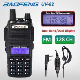 2020 baofeng uv 82 dual band Baofeng UV-82 Dual-Band FM Walkie Talkie Radio136-174 / 400-520 MHz Rádio FM Ham Two Way Transceiver Walkie Talkie desconto baofeng uv 82 dual band