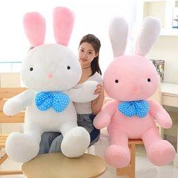 conigli giganti Sconti simpatico coniglietto di peluche coniglio gigante cartoon bianco coniglio bambola cuscino bambola di nozze ragazza regalo di compleanno 43 pollici 110 cm