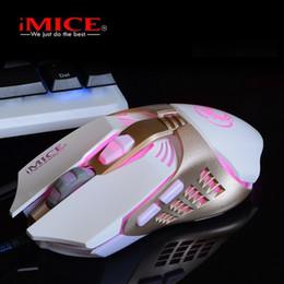 2019 botones de ratón ergonómico iMICE V5 Professional Wired Gaming Mouse Colorido LED Ratones ergonómicos para Gamer Optical Computer Game Mouse 3200 DPI 7 botones botones de ratón ergonómico baratos