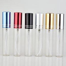 2019 rouge à lèvres de maquillage élégant 20 pièces / lot 10 ml portable bouteille de parfum en verre coloré avec atomiseur récipients cosmétiques vides pour bouteilles de pulvérisation de voyage T190627