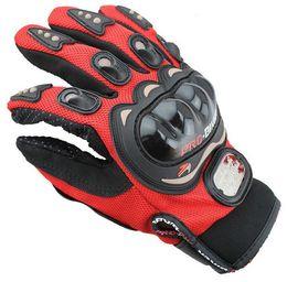 guanti meccanici xl Sconti Spedizione gratuita Outdoor Sports cavaliere pieno dito di guida moto Guanti Moto tessuto reticolare traspirante 3D uomini Leather Glove Locomotive