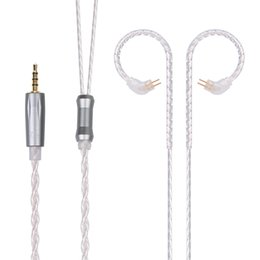 earphone upgrade cable Promo Codes - 10 3.5 2.5mm Plug 2Pin Upgraded Plated Silver Cable Black Copper Cable Use For TRN 10 20 V60 ZS10 ZS6 ZSA ES4 TFZ QUEEN TRN V10 3.5 2.5mm