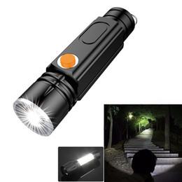 Torcia elettrica ricaricabile USB Torcia portatile tattica LED con luce di lavoro COB e base magnetica per interni da tratto della batteria fornitori