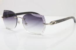 514c86b75c71f 2019 NEW Luxury Brand 18K Gold Sunglasses 8200762 Carved Lens for Driving  Optical Original Black Flower Buffalo Horn Glasses Unisex Hot