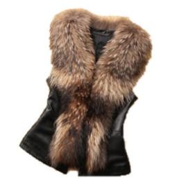 peles finas Desconto 2019 Primavera e no Outono traje imitação guaxinim gola fina casaco de pele do sexo feminino casaco de pele de imitação
