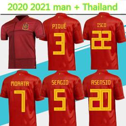 se adequa ao espanhol Desconto 2020 2021 mais recente European Cup espanhol camisa da equipe terno de Início Red 20 21 camicetta de futor Sergio A iniestacok A0 DE GEA camisa de futebol