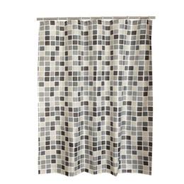 Acessórios de chuveiro de plástico on-line-Xadrez Poliéster Banheiro À Prova D 'Água Cortinas De Chuveiro Com Ganchos De Plástico Cortinas de Chuveiro Acessórios Do Banheiro Xadrez Estilo Simples