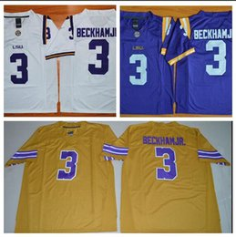 a40319885 Mens LSU Tigers ODELL BECKHAM JR Stitched Name&Number American College  Football Jersey Size S-3XL