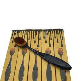 maquillage brosses types de cheveux Promotion 1 pcs Make Up Brushes Type De Brosse À Dent Douce Cosmétique Visage Poudre Fondation Brosse Outil De Maquillage Des Cheveux Synthétiques