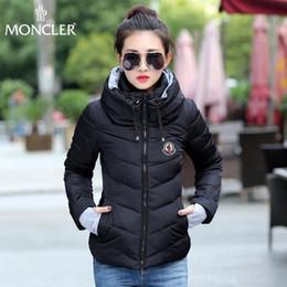 Abrigo de capa corta online-Marca de moda de invierno, mujeres cortas, 8 colores, chaqueta de algodón opcional, abrigo exterior, abrigo de invierno, capa de tamaño S-3XL