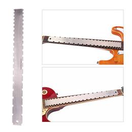 effektpedalanschluss Rabatt E-Gitarre Hals Krümmung Messlineal Draht Griffbrett Einstellwerkzeug Nivellierung gerade Edelstahl Messer Mund Lineal