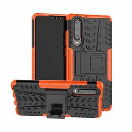 soporte colorido Rebajas Para el caso de Huawei P30 Lite Colorido soporte Combo robusto Hybrid Armor Bracket Funda protectora de impacto Funda para Huawei P30 Lite