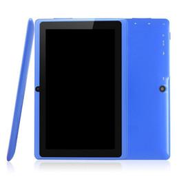 китай компьютера пк Скидка 2018 таблетки wifi 7 дюймов 512 МБ оперативной памяти 8 ГБ ROM Allwinner A33 четырехъядерный Android 4.4 емкостный планшетный ПК двойная камера Q88 A-7PB