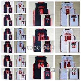 5f28efa42b0 1992 New Dream Team Jerseys Cheap 7 Larry Bird 6 Patrick Ewing 13 Chris  Mullin 8 Scottie Pippen 10 Clyde Drexler 11 Karl Malone 15 Johnson