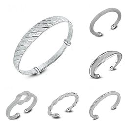 2019 bracelet style style Bracelets En Argent 925 Pour Femmes Mix 6 Style 925 Bijoux En Argent Brillant Femmes De Luxe Marque Amour Bracelets Bracelet promotion bracelet style style