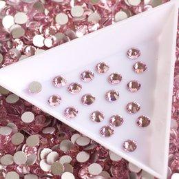 Исправление strass crystal онлайн-Оптовая SS30 Non HotFix 288 шт. Светло-розовые стразы Crystal Strass DIY Аксессуары для ногтей 3D Strass Nail Art
