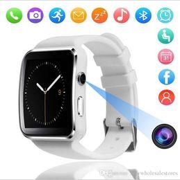 U gps guardare online-Regno Unito USB3.0 Smart Wrist Bluetooth Watch Phone Per Android per IOS X6 Smart Watches puoi mettere schede SD, SIM CARD