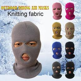 maschera militare paintball Sconti Army Tactical Mask 3 fori maschera di protezione piena Ski Inverno Cap Balaclava Hood NUOVO