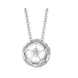 Ciondolo in argento 925 ciondolo in lega di calcio amore affascinante ciondolo per le donne accenti cubic zirconia CZ da