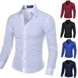 formale kleider männer stilvoll Rabatt Men Luxury Stylish Formal Shirt Männer kleiden beiläufige Luxushemden Regular Fit 2019 Hot Sale Shirt