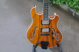 schiff benutzerdefinierte hohlkörper gitarren Rabatt Freies verschiffen Kundenspezifische elecitrc gitarre halb hohlkörper ebenholz griffbrett burl maple top, ebenholz brücke guitarra guitars