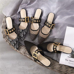 Сандалии с бриллиантами онлайн-Сандалии бренда Paris с мешком с песком, тапочки высокого качества, дизайнерские тапочки первого и второго поколений, шлепанцы женские, diamond-e