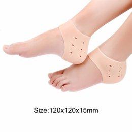 Трещина с трещинами в ногах онлайн-1Pcs Comfortable Gel Silicone Cracked Foot Heel Skin Moisturizing Socks Protector Washable Non-toxic Drop Shipping